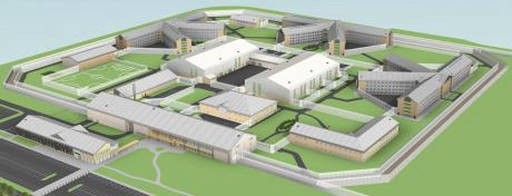 The new prison development in North Wales.